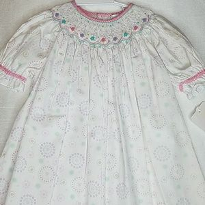Bishop style smocked dress